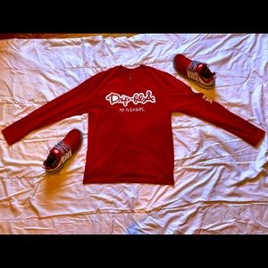 New Drip Fil A Long Sleeve (Red/White)